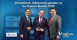 Virtualdesk, recibe dos galardones en los Premios @asLAN 2020